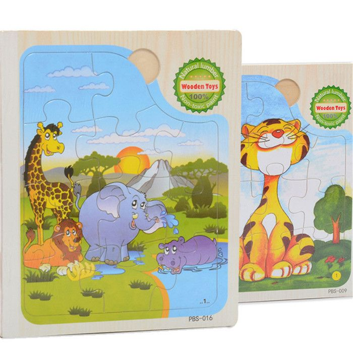 wooden Toys for children cartoon animal puzzle toy Books Kids early childhood game story book Puzzles Girls Boys Toy CU89