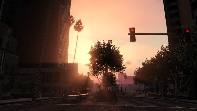 Sunset in Los Santos.