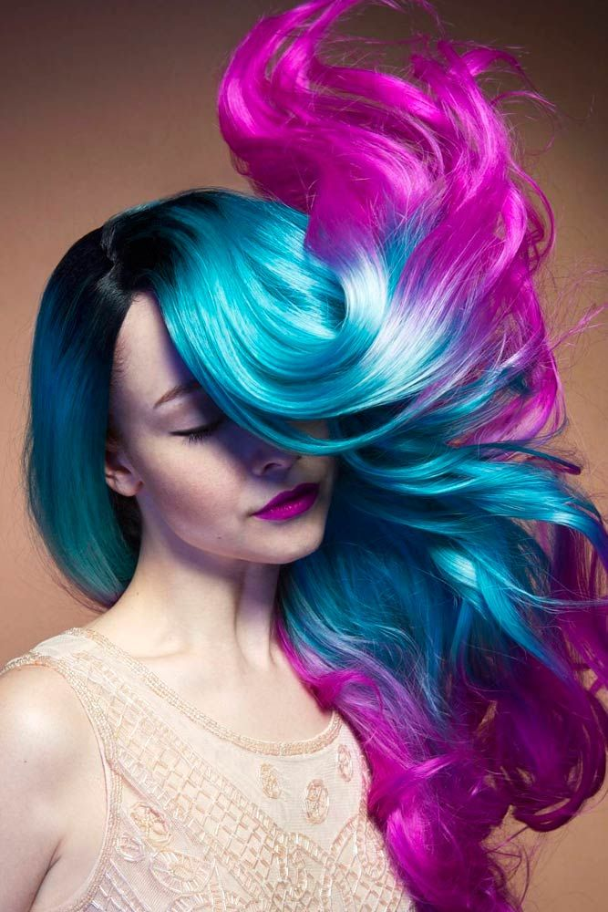 Pink And Blue Hair   www.pixshark.com - Images Galleries ...