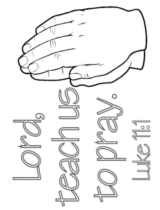 lord teach us to pray luke 111 coloring page - Jesus Praying Hands Coloring Page