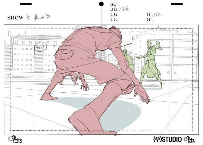 This picture of show how people drawing from anime film like foreshortening and…