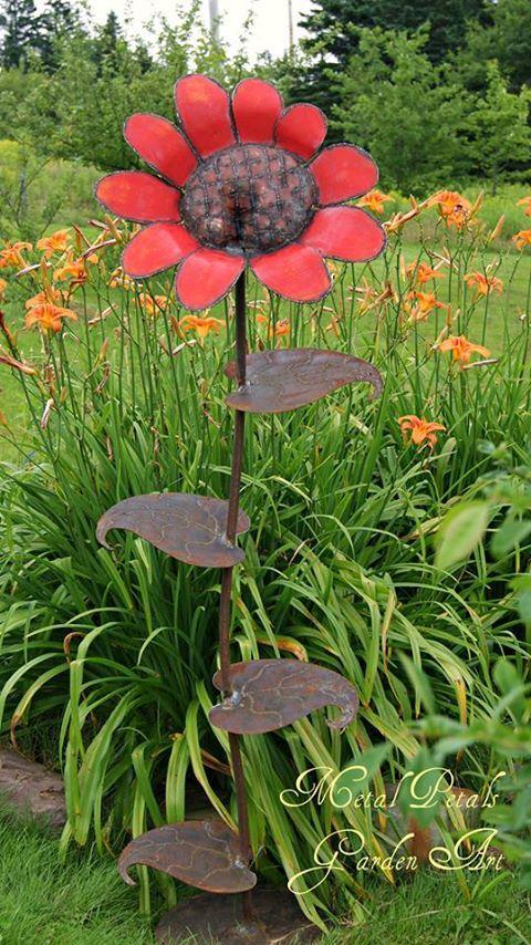 Metal Garden Flowers Outdoor Decor
