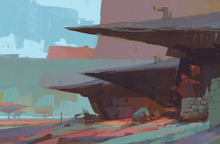 Village, Theo Prins on ArtStation at http://www.artstation.com/artwork/village-5f1022f1-e68c-47a9-a17c-a385c42faeec