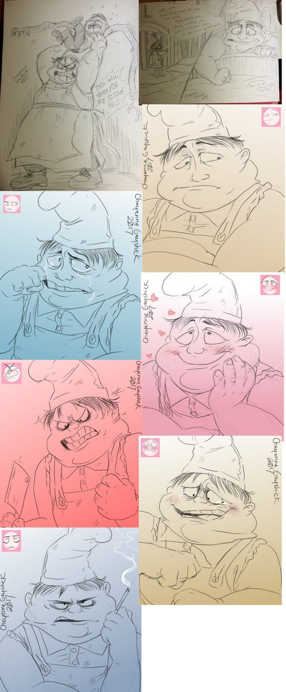 Some challenges and sketches  All characters (c) Tarsier Studios/ Little Nightmares