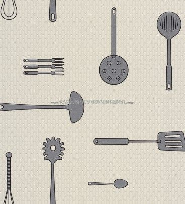 PAPEL PINTADO RASCH 817027 - AQUA DECO. ¡Papel pintado para cocinas a 39,95 €! ¡¡¡Ideas para decorar cocinas con papel pintado para paredes!!!Un producto vinílico y superlavable.
