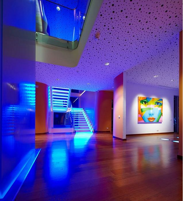 home mood lighting. colorful lighting interior futuristic orange house in ankara turkey by yazgan design architecture home trends photos picture at mood i