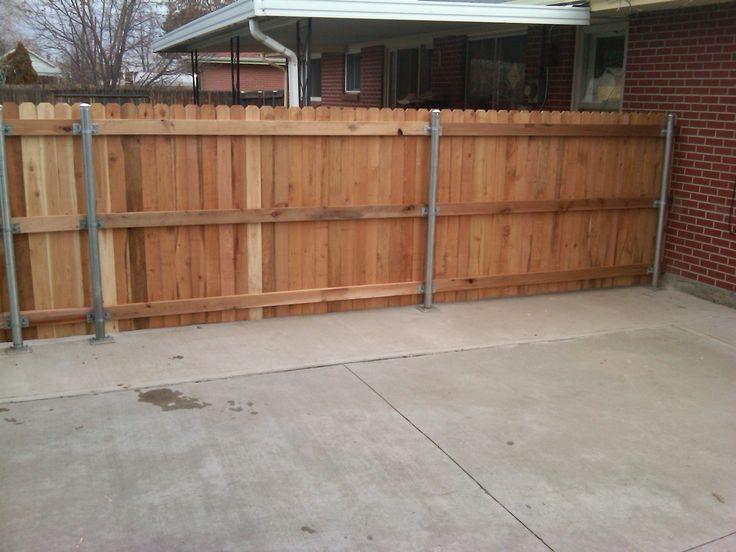 reuse of chain link fence posts Backyard ideas Pinterest