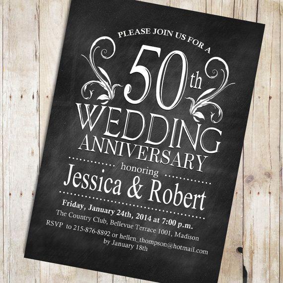 10 best anniversary stuff images on pinterest invitations 50th chalkboard 50th wedding anniversary invitation by partyinkstudio 1100 stopboris Image collections