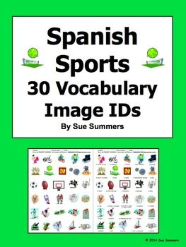 spanish sports 30 vocabulary image ids worksheet spanish student and the o 39 jays. Black Bedroom Furniture Sets. Home Design Ideas