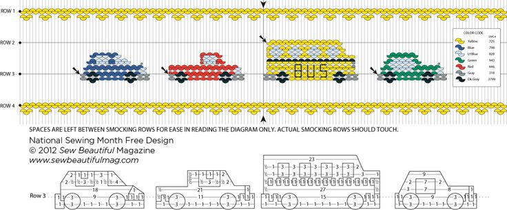 Sew Beautiful Blog: Free Daily Design: Cars Picture Smocking Plate