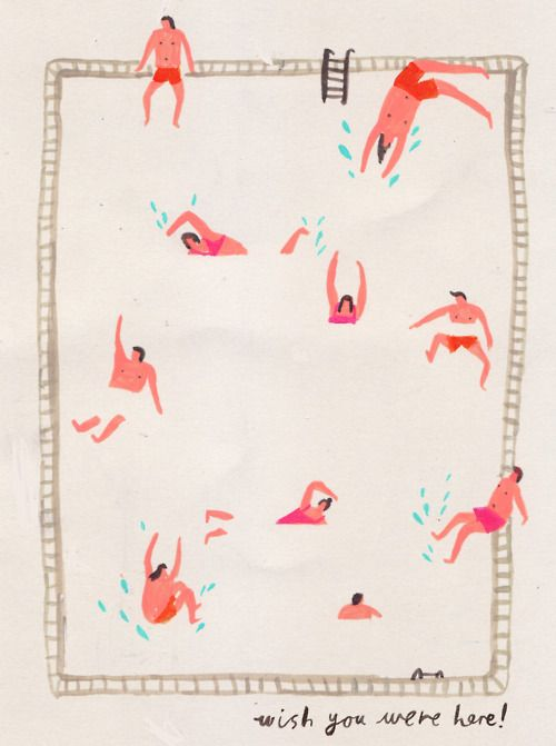 +: Swimming Pools, Pattern, Illustrations, Charlottetrounce, Pool Illustration, Charming Illustration, Art Illustration