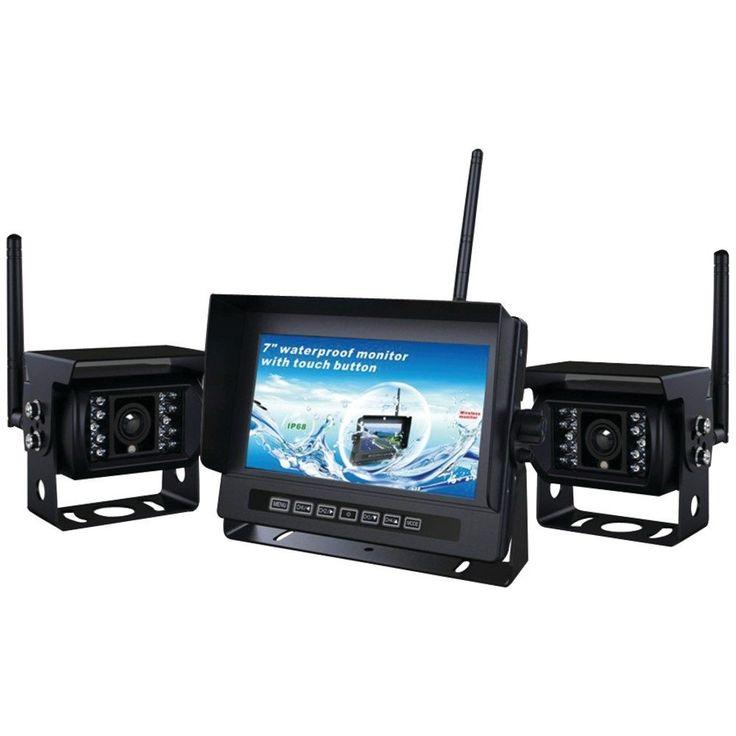 CRIMESTOPPER SV-2002.BRV 2-Channel, 2.4GHz Digital Wireless RV Backup Camera System with Parking-Assist Lines