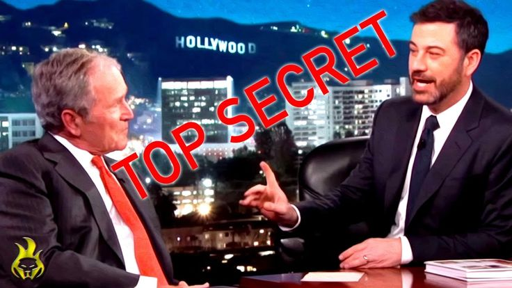"President 💀 Bush Jr. Admits there are ""Great Secrets"" on Jimmy Kimmel"