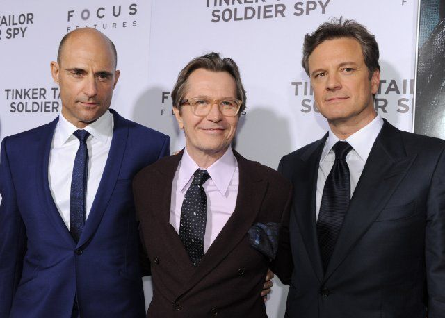 Colin Firth, Gary Oldman and Mark Strong at event of Tinker Tailor Soldier Spy (2011)