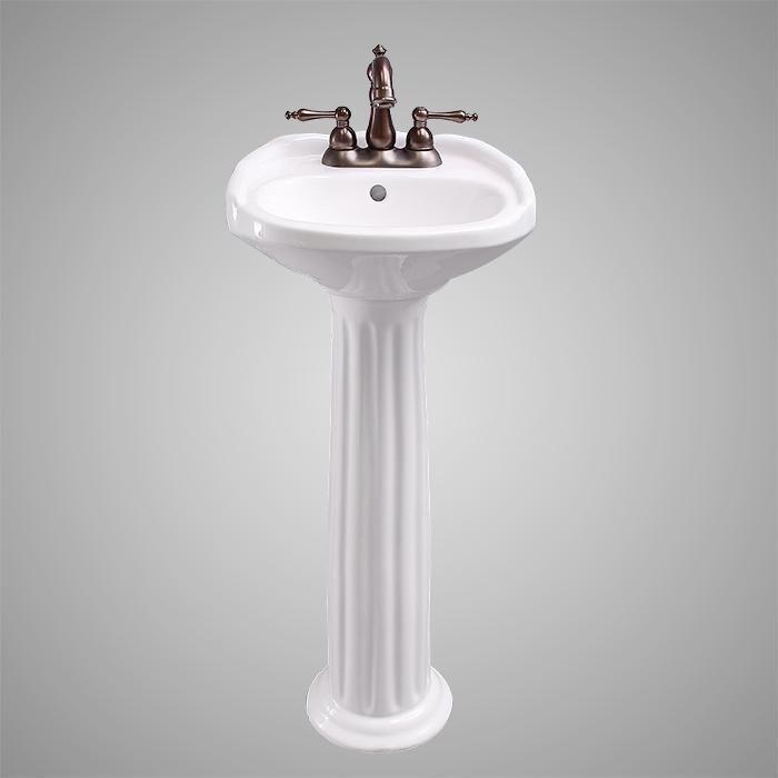 Stanfield Vitreous China Pedestal Sink Small Pedestal Sink