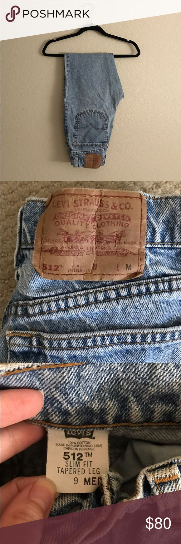 Levi's 512 High Waisted Mom Jeans Perfect pair of vintage jeans  Levi's 512 tapered leg   Marked as a size 9 Med  Would fit size 26-27 waist   ❌ NO TRADES OR TRY ONS ❌ Levi's Jeans