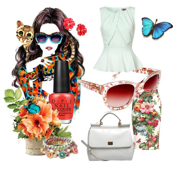 """""""Summer Flowers"""" by mariasty on Polyvore"""