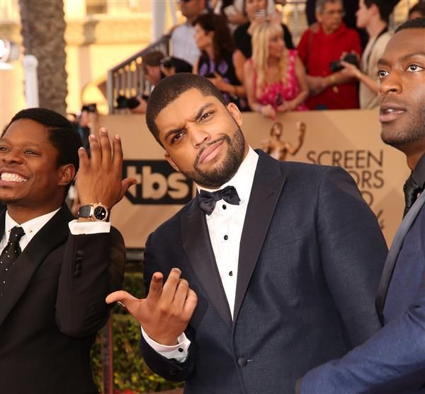 """Straight Outta Compton"" star O'Shea Jackson Jr. probably uses a different finger when he thinks about the Oscars."