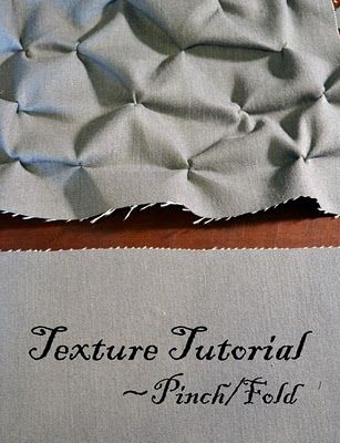 Pinch/Fold technique for adding texture to fabric