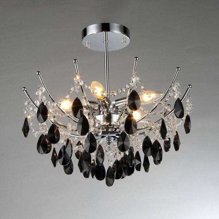 Warehouse of Tiffany Rose RL1212A Crystal Semi Flush Light - RL1212A