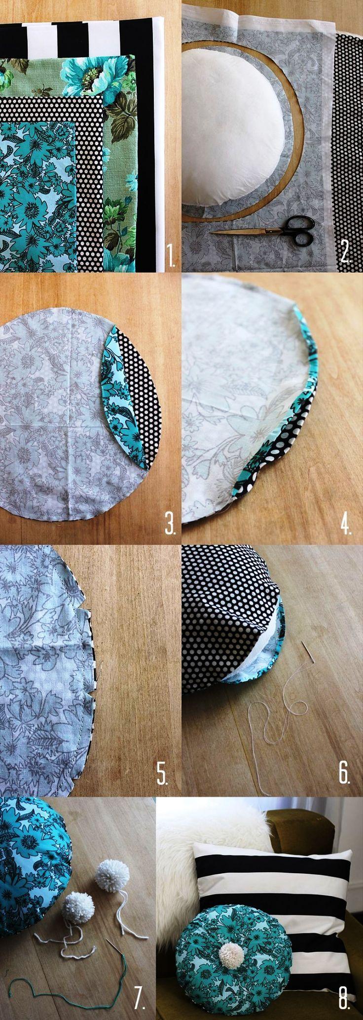 DIY PRETTY Round Pillow