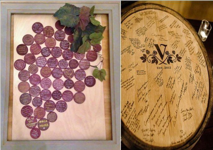 il vino è un'ottima ispirazione anche per un guestbook personalizzato