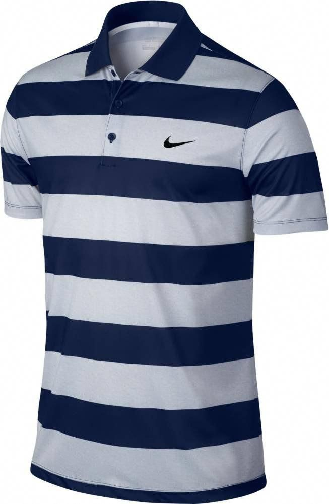 f887b853ab2c8c Men Golf Clothing - Nike Mens Golf Victory Bold Stripe Polo XLarge Midnight  Navy Black