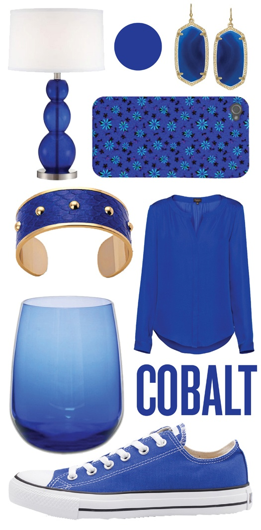 Cobalt was one of the biggest trends on the Fall/Winter 2012 runway so this is pin-point on trend.