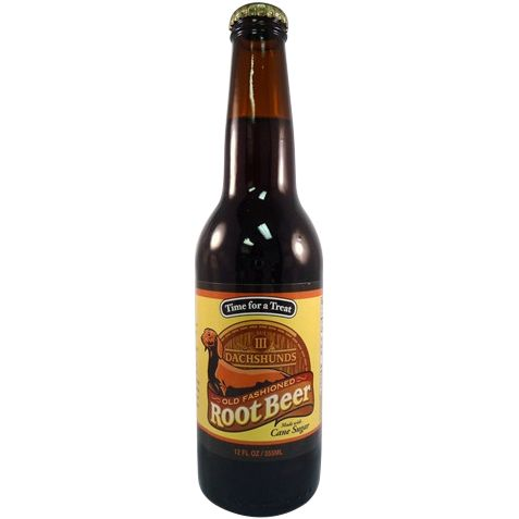 """""""Time for a treat!"""" the label proclaims! III (that's 3 not ill) Dachshunds Beer Company in Cudahy, Wisconsin, proudly produce this delicious root beer. Sweet classic root beer flavor with a giant foam"""