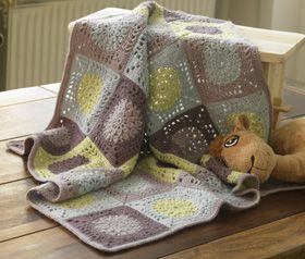 Tæppe af hæklede firkanter - Hækling - Håndarbejde og strikkeopskrifter - Familie Journal