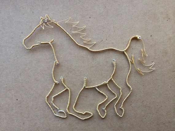 Wire Horse Arvak by WyreWithATwist on Etsy, $30.00