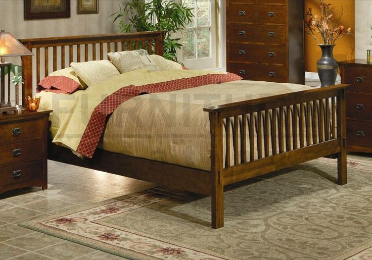 Mission style king bed plans woodworking projects plans for Mission style bed plans