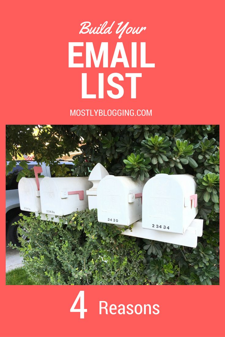 #Bloggers and #marketers should build an #Email list immediately