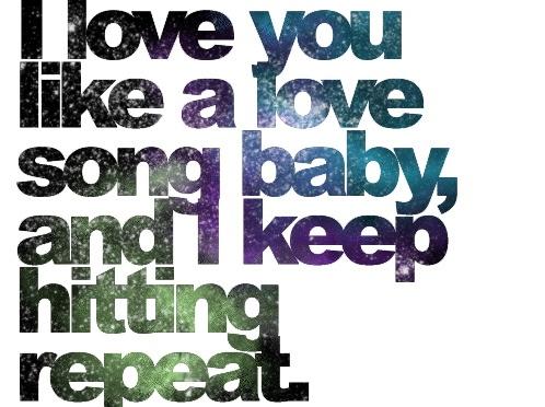 lyrics of i love u like a love song baby