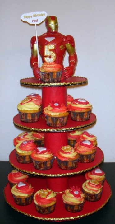 Iron Man Cupcakes                                                                                                                                                     Más