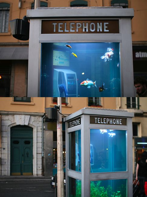 The Aquarium Phone Booth Designed By Benoit Deseille And