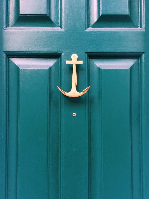Anchor door knocker.