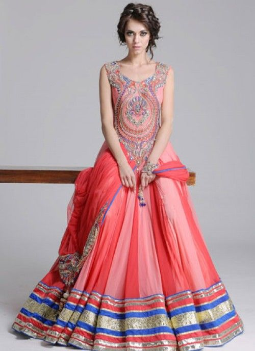 magnificent embroidered #Anarkalisuit