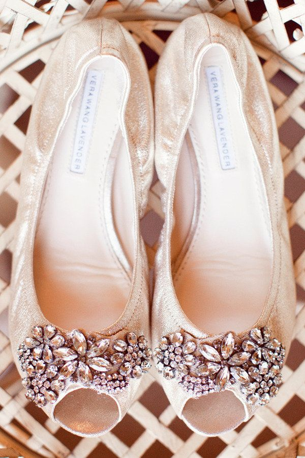 Flats to wear after pictures and the ceremony. So pretty!