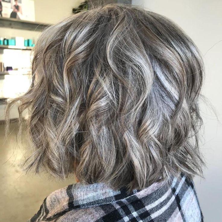 60 Gray Hair Styles in 2019 Angled bob