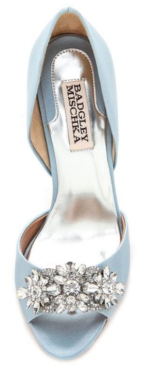 Badgley Mischka, lovely blue heels with sparkles