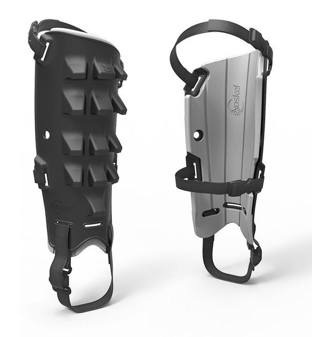 Exoskel shin guards for climbing