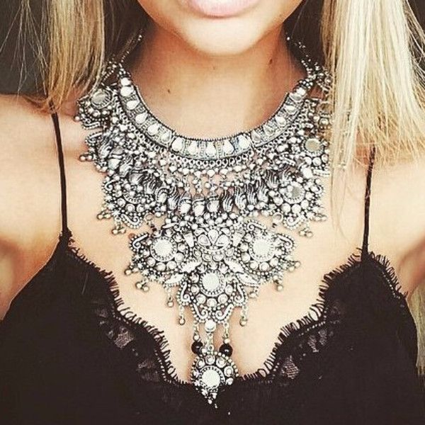 Latest BOHO Silver Electroplating Maxi Necklace Women Statement Necklace