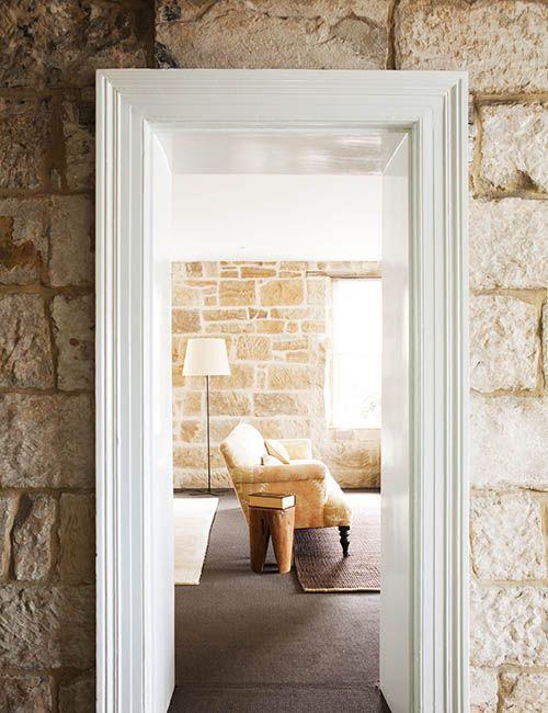 BALMAIN WHARF APARTMENTS | alwill  #interiors #lamp #sandstone #livingroom