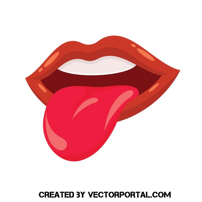 Red Lips And Tongue Vector Freebie Illustration Freevectors In