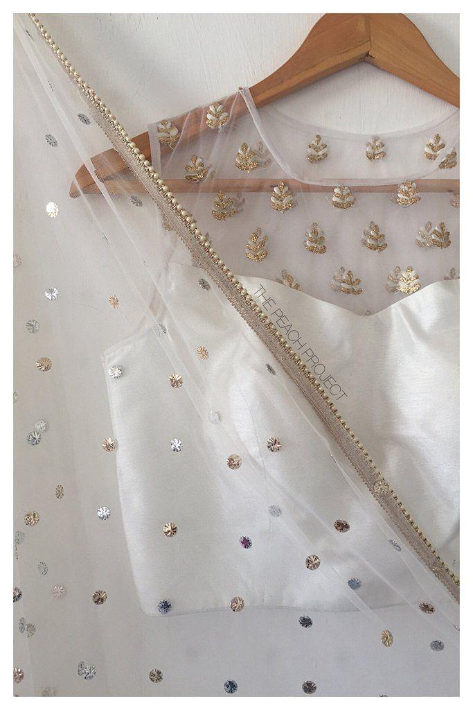 Indian, South Asian Fashion: Goat Patti Embroidery, via @sunjayjk