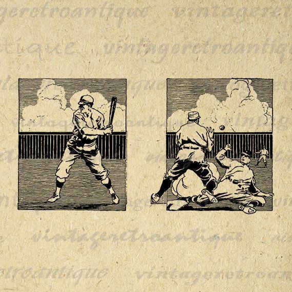 Baseball Printable Image Digital Baseball Players Download