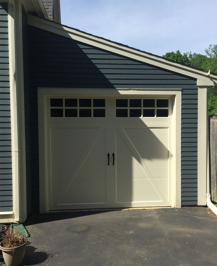 clopay coachman garage door custom painted