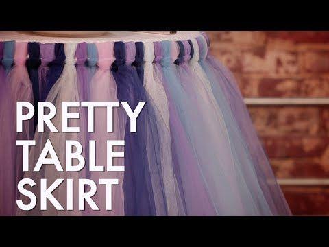 How To Make a No-Sew Tutu Table Skirt - YouTube
