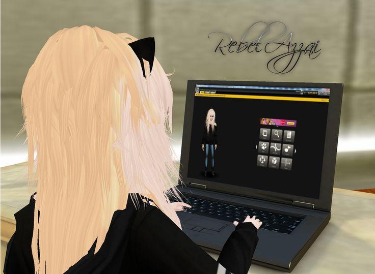 RebelAzzai, Game, IMVU!, Girl, imvu, my character, computer.